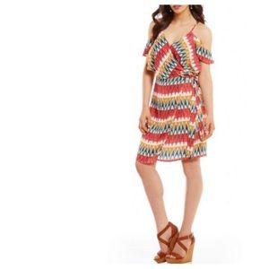 NWT Gianni Bini Amy fiery floral print wrap dress